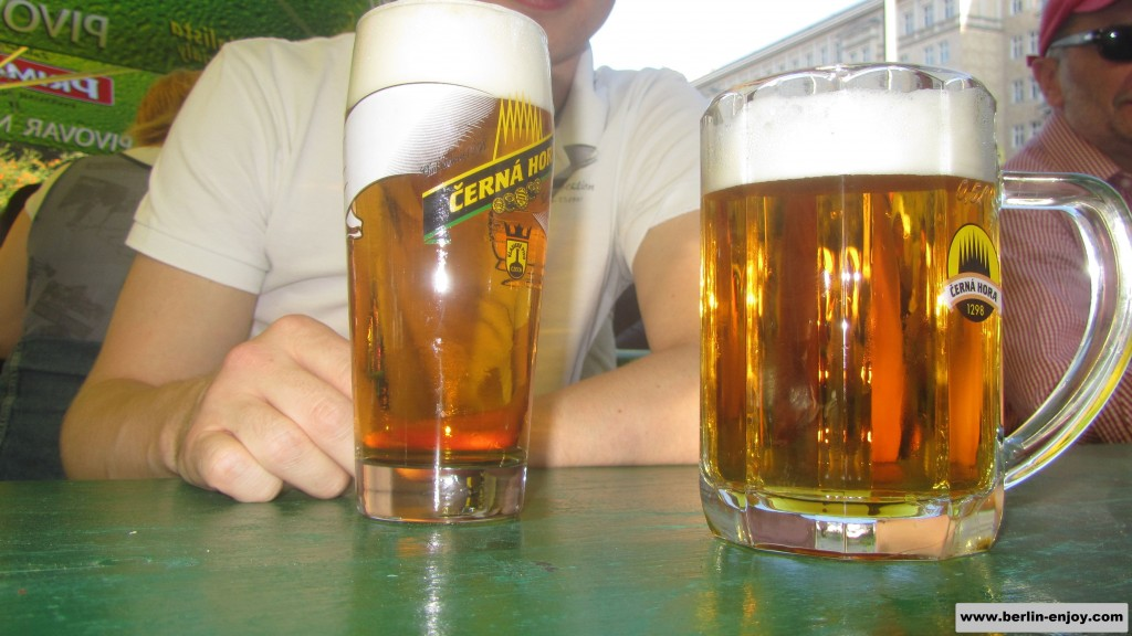 Two lovely pints of beer from different brands