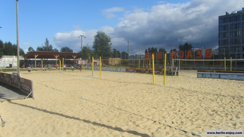 Some of the many Beachvolleyball-Courts at BeachBerlin