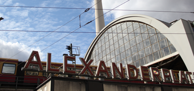 Famous square in the middle of Berlin: Alexanderplatz