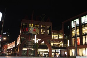Shopping center Alexa by night (berlin)
