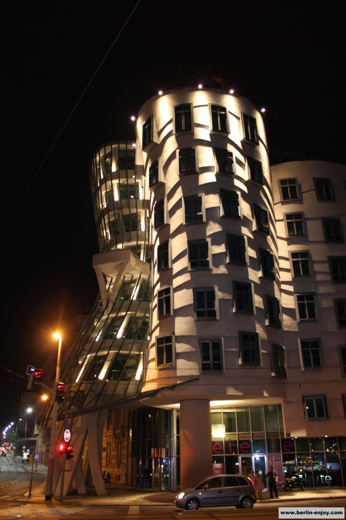 Dancing House at night Prague
