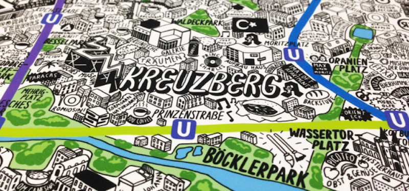 Great Project: Hand drawn Map of Berlin