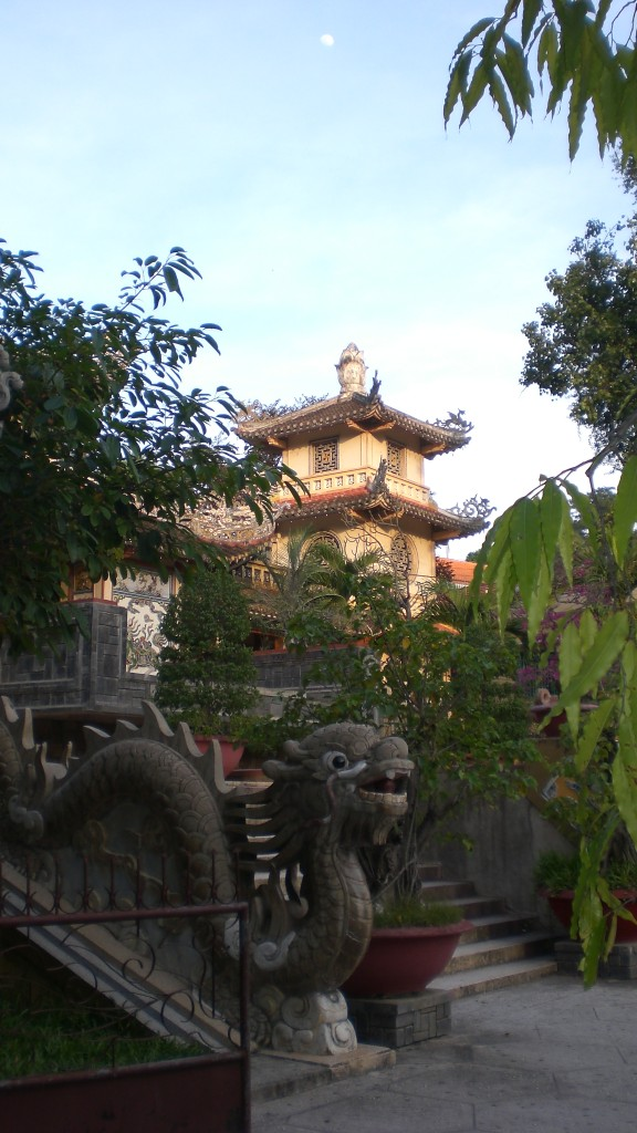 Vietnam Temple Moon