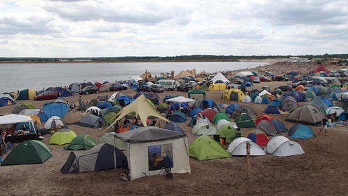 Feel Festival Camping on the beach
