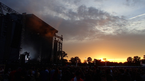 Sunset on Lollapalooza 2017 (© Enjoy-Berlin.nl)