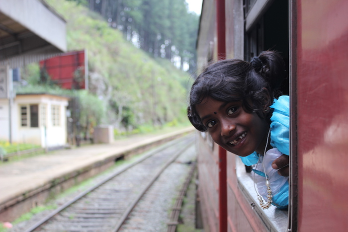 Girl in Train Sri Lanka