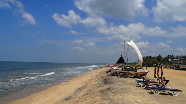 The beach of Negombo