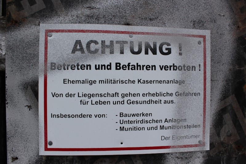 Abandoned Places - Achtung Verboten