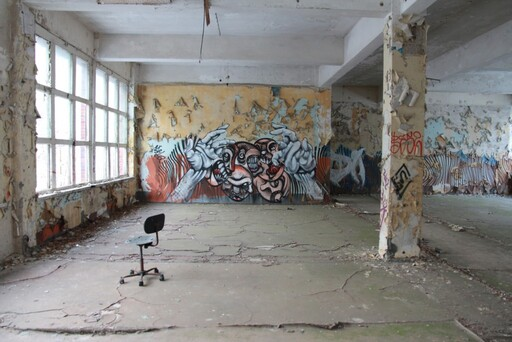 Streetart in one of the Abandoned rooms in the panzerkaserne (© Berlin-Enjoy.com)