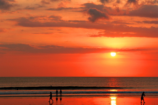 The Sunset at the beach  of Kuta