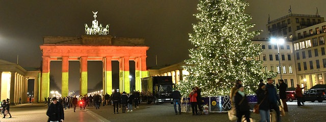 The Brandenburger Tor after the terroristic attack (© mdr.de)