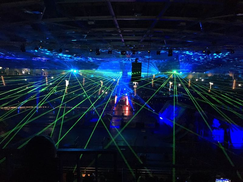 Night of Freestyle lasershow