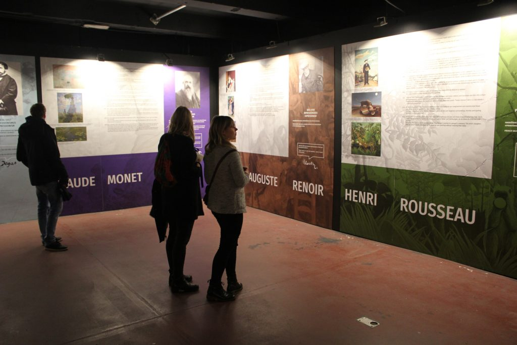 The entrance of the Exhibition: Read a bit about the upcoming painters