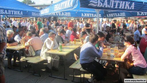 Many people come to Berlin to visit the beer-festival