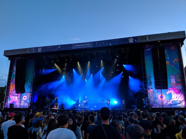 Fink on the alternative stag of Lollapalooza Berlin