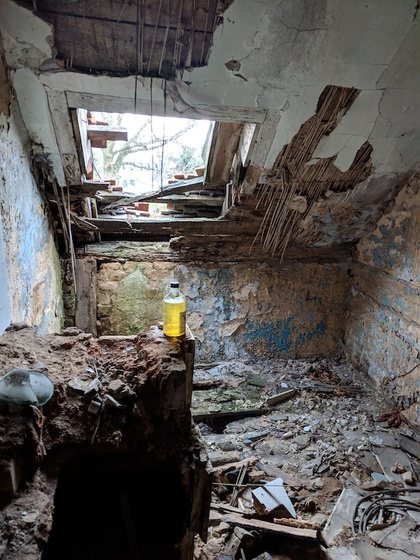 One of the abandoned rooms upstairs (© Berlin-enjoy.com)