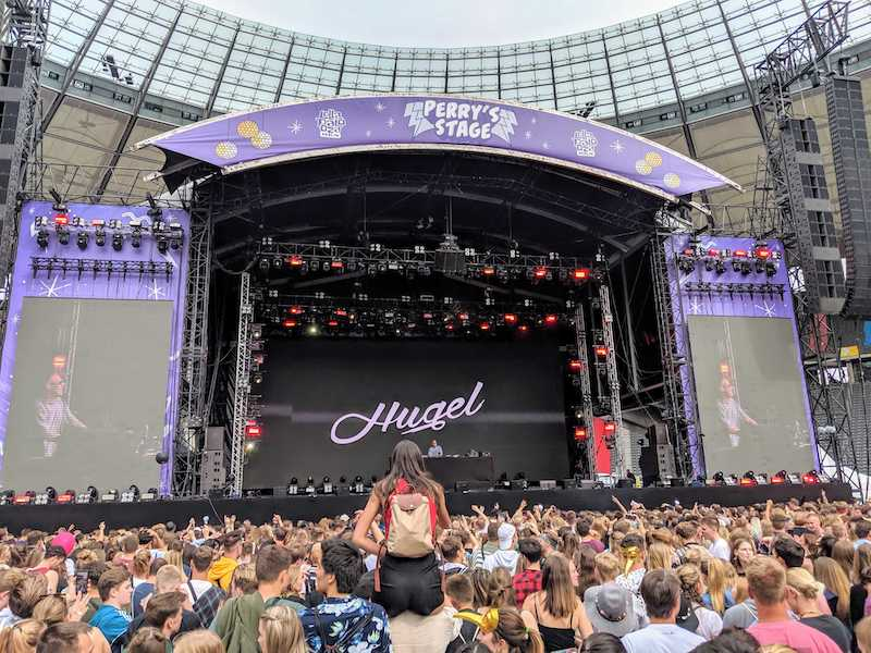 The Perry Stage of Lollapalooza - Performance of Hugel